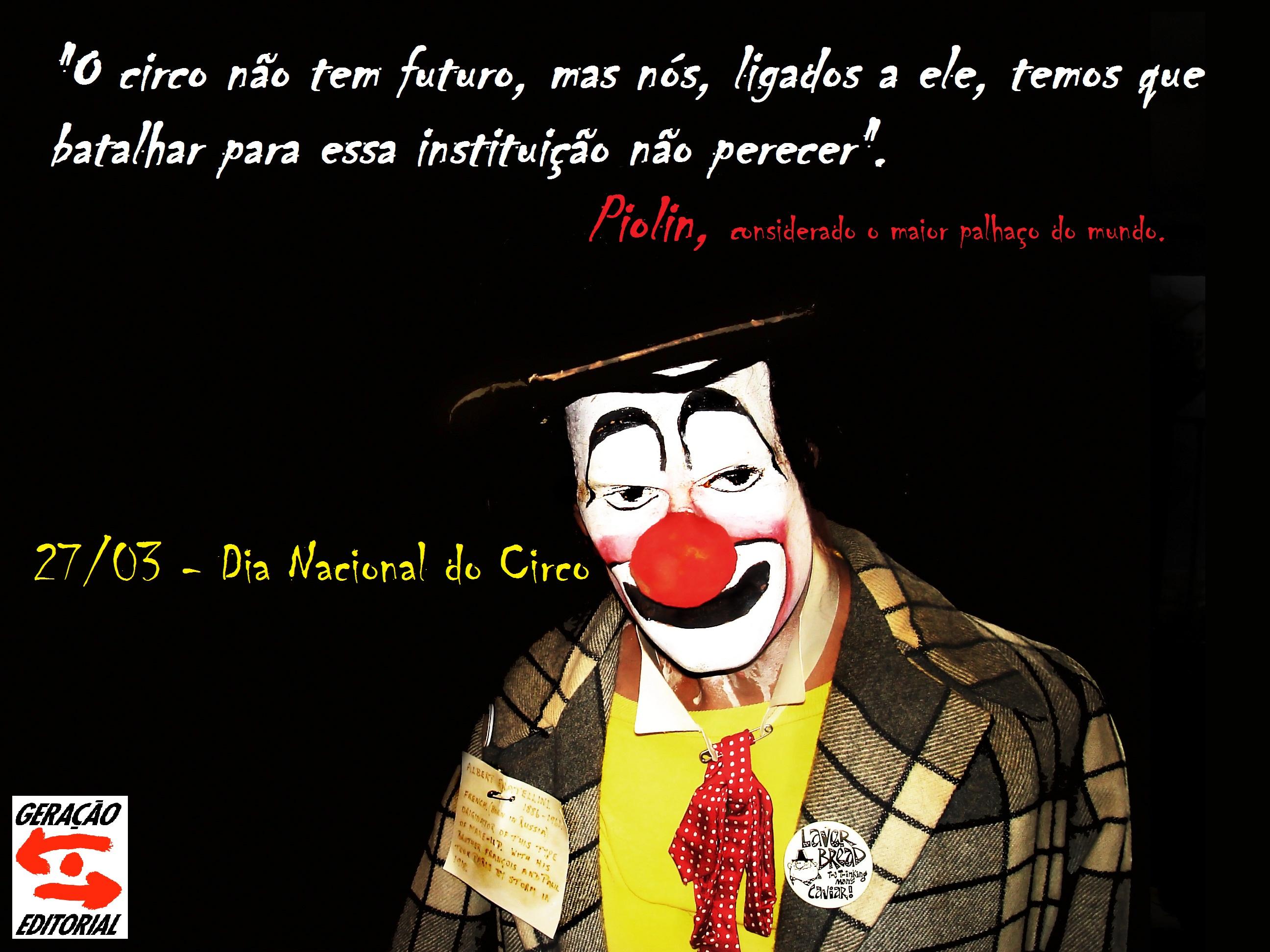Dia Nacional Do Circo Geração Editorial